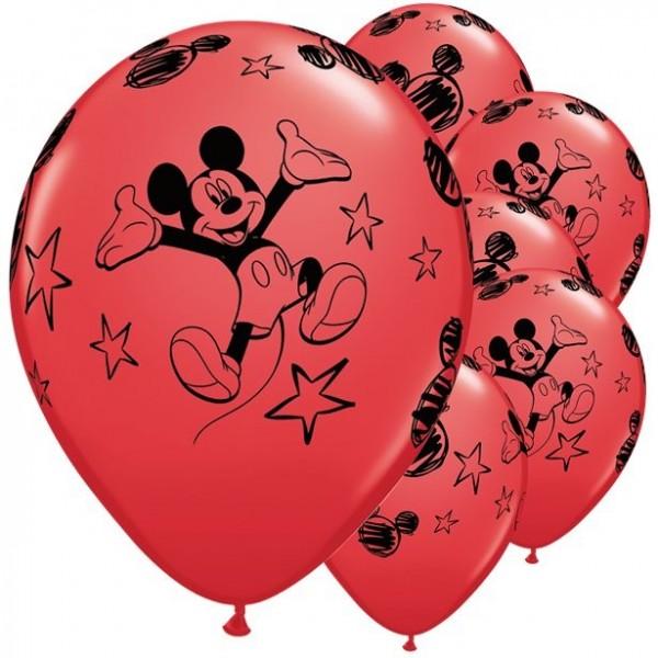 6 Celebrating Mickey Mouse Ballons 28cm