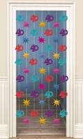 40th Celebration Tür Vorhang 200cm