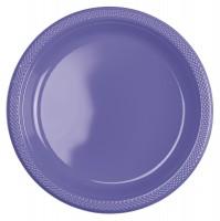 20 Kunststoff Teller Mila lila 23cm