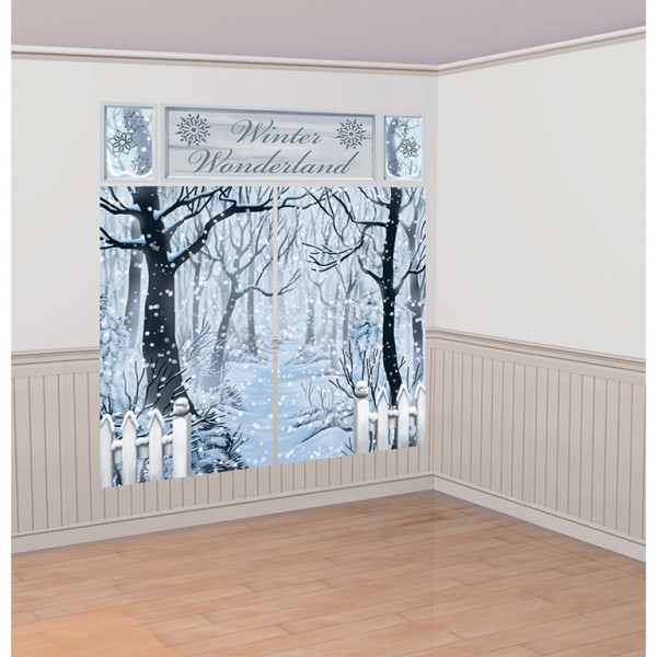 Winter Wonderland Wandkulisse 5-teilig