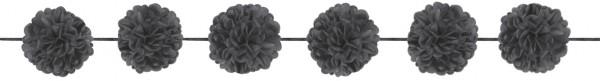 Czarna girlanda z pomponem Napoli 3,65m