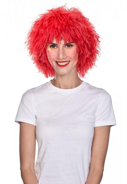 Perruque cheveux roux pour adultes