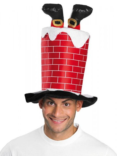 Roter Schornstein Weihnachtszylinder