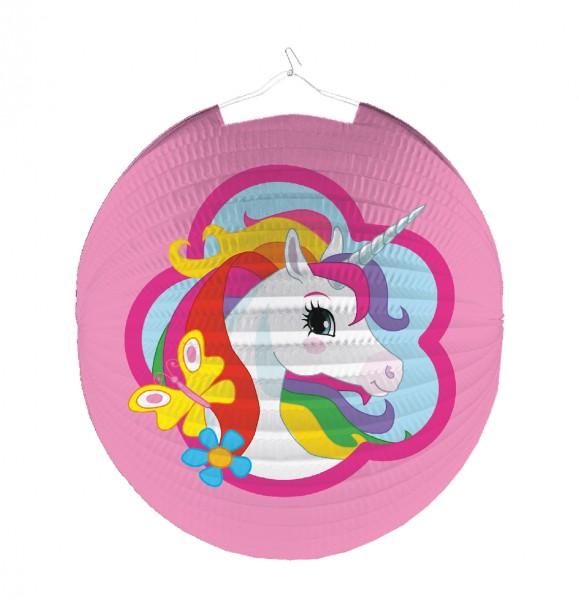 Enchanting unicorn lantern Rainbow Sparkle 25cm
