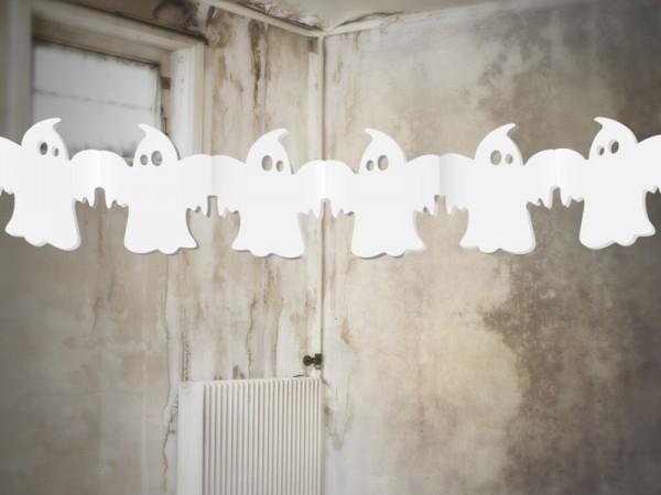 Geister Papiergirlande Weiß 3m