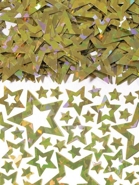 Holografische Sternen Streudeko Gold 14g