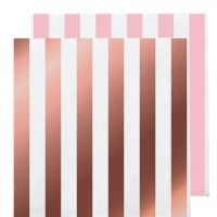 16 metallische Wendeservietten Roségold 33 x 33cm