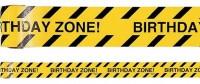 Achtung Birthday Zone Absperrband 13m
