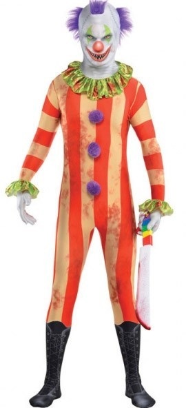 Bunter Horror Clown Morphsuit für Herren