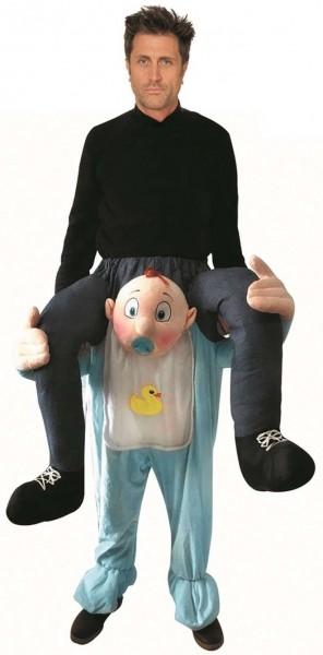 Piggyback baby costume