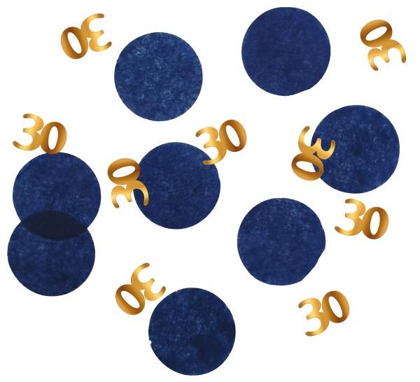 Confettis 30e anniversaire 25g Bleu élégant