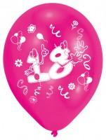 8 Verrückte Zahlen-Ballons 18. Geburtstag bunt