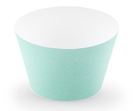 6 Aloha cupcake molds in turquoise