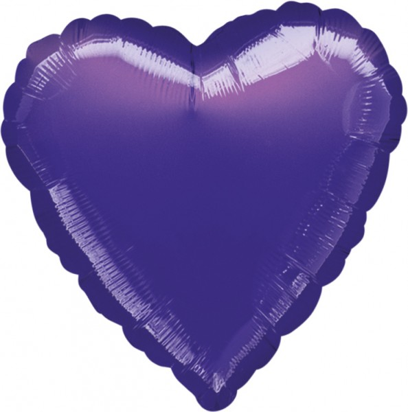 Lavendelfarbener Herzballon 43cm