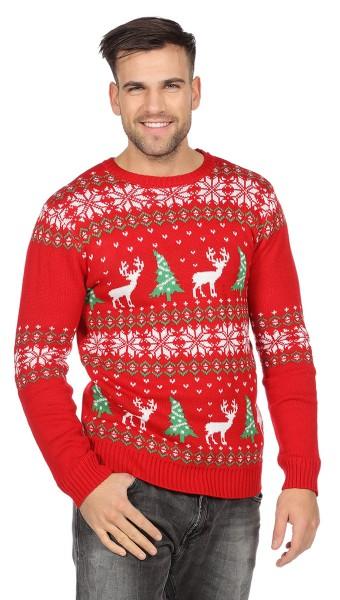 Jersey navideño reno rojo para hombre
