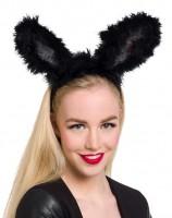 Haarreif schwarze Bunny-Ohren