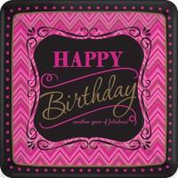8 Pappteller Partytime Pinkie Birthday 17,7cm