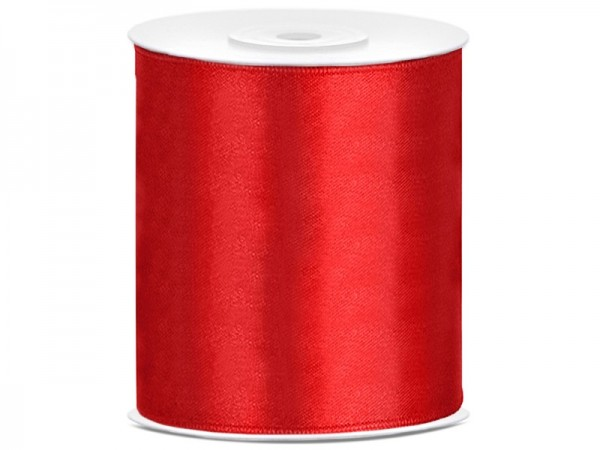 25m satin ribbon red 10cm wide