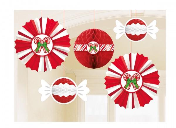 Set de décoration à suspendre Sweet Christmas 5 pièces
