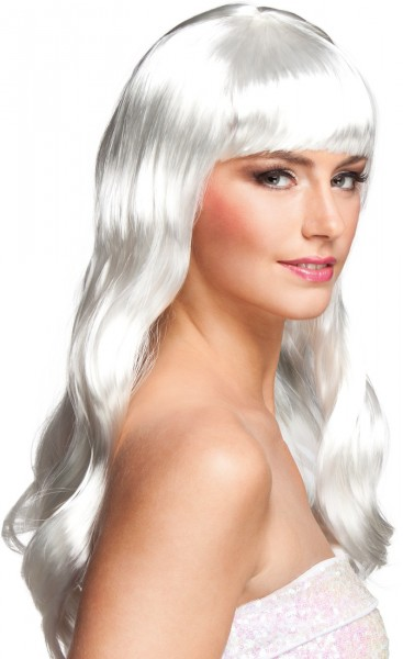 White Kerry Wig with Bangs