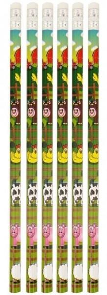 6 Bauernhof Bleistifte