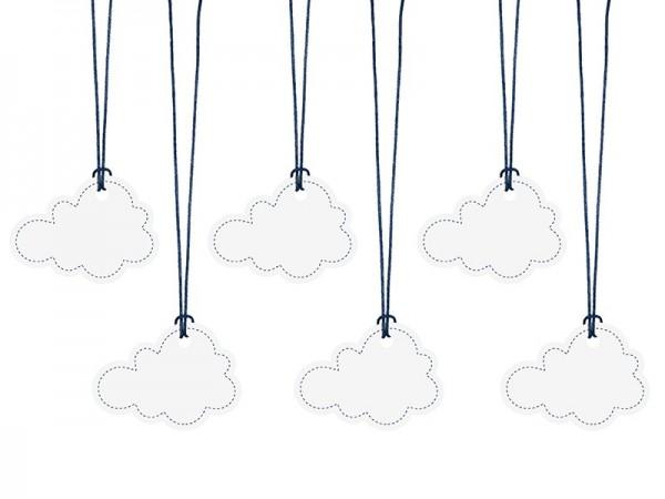 6 étiquettes-cadeaux Little Plane Cloud