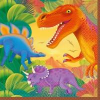 16 Dino Servietten Urzeit-Giganten T-Rex 33cm