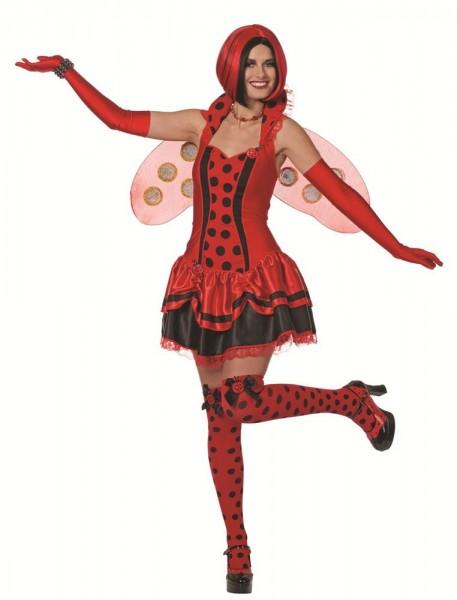 Rood geluk kever dame kostuum