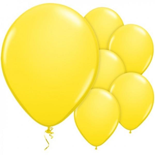 25 yellow latex balloons 28cm