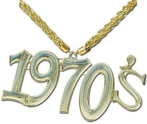 70er Jahre Goldene Halskette