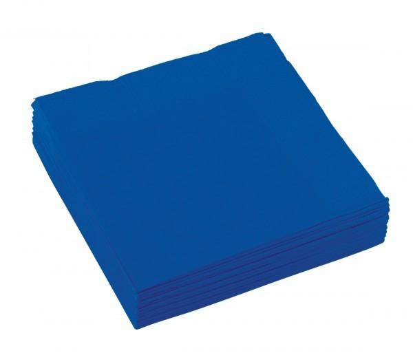 20 serwetek w kolorze niebieskim Amalia 25cm