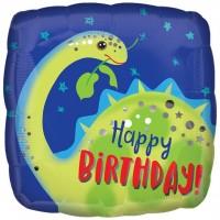 Happy Birthday Dino Folienballon 46cm