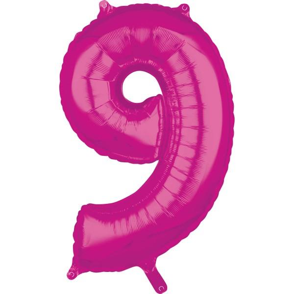 Balon foliowy Pink Number 9 66cm
