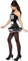 Halloween Kostüm Skelett Lady Verführerisch