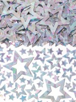 Holografische Sternen Streudeko silber 14g