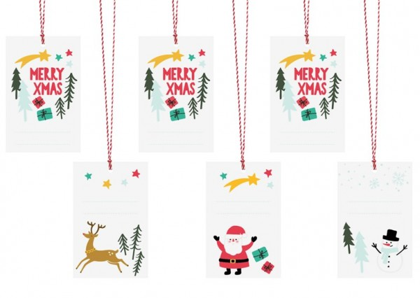 6 Little Christmas gift tags