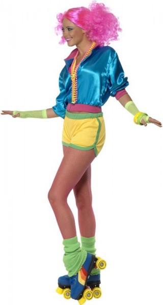 Neon Buntes Rollergirl Kostüm