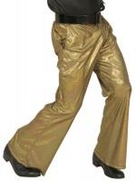 Glitzer Disco Schlaghose Für Herren Gold