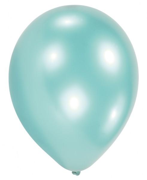 10 Aqua Perlmutt Luftballons Partydancer 27,5cm