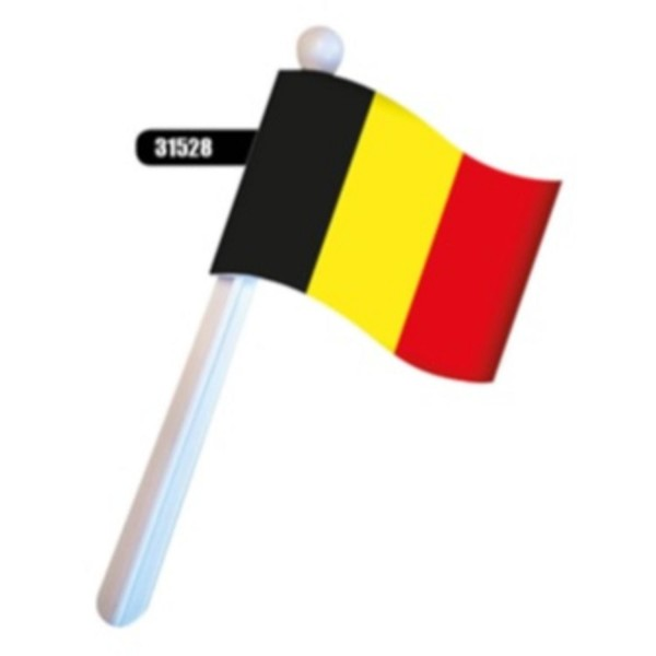 Drapeau hochet Belgique 19 x 9 cm