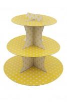 Punkte Spaß Gelber Cupcake Ständer 30cm