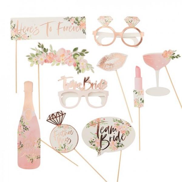 10 Rosy Bride Foto Requisiten