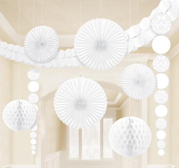 Set de decoración New Romance blanco 9 piezas