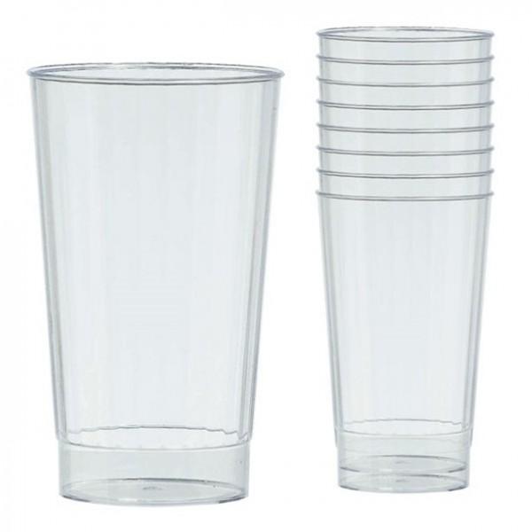 16 Transparente Kunststoff Gläser 455ml