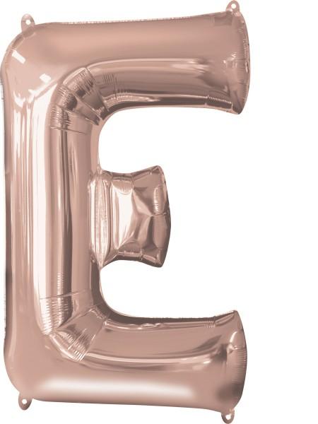 Palloncino lamina con lettere E rosegold 81cm