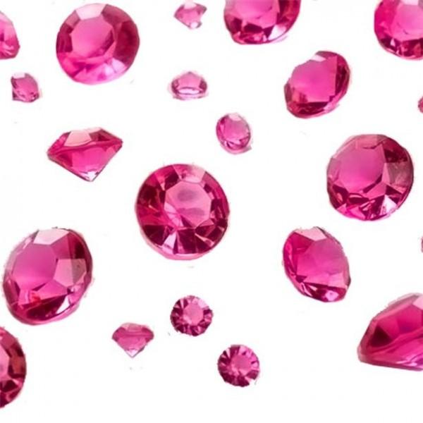 Streudeko pinke Diamanten 100g