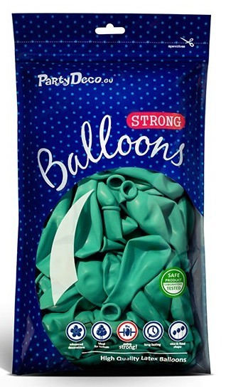 100 Partystar Luftballons aquamarin 23cm
