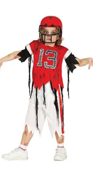 American Footballer Zombie Kostüm Für Kinder