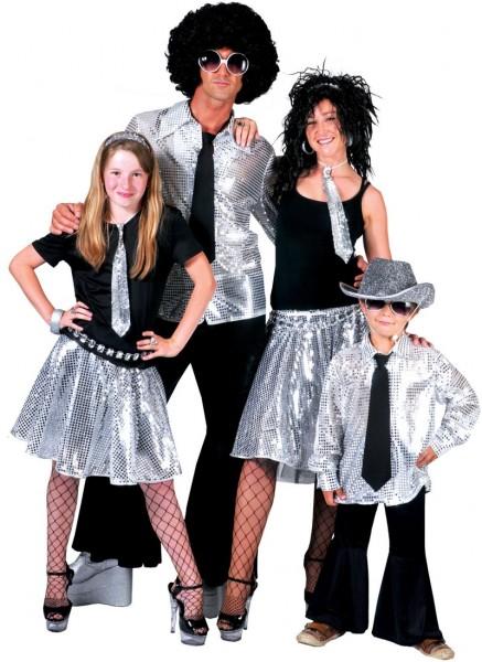 Silbernes Discokugel Hemd