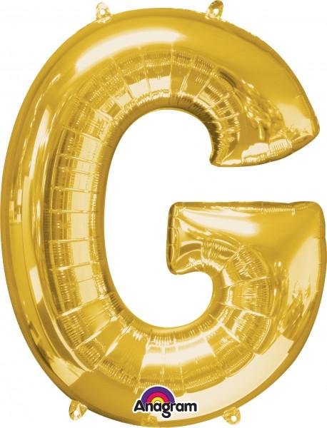 Letter foil balloon G gold 81cm